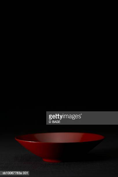 Red lacquered bowl