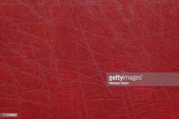 Red leather, full frame