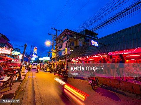Red light district in Pattaya, Thailand