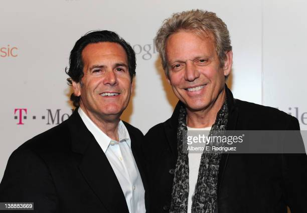 Red Light Managemanet COO Bruce Eskowitz and musician Don Felder arrive at Redlight Management's postGrammy event hosted by TMobile and Google Music...