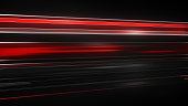 Red Light streaks with motion blur. Computer generated abstract futuristic background