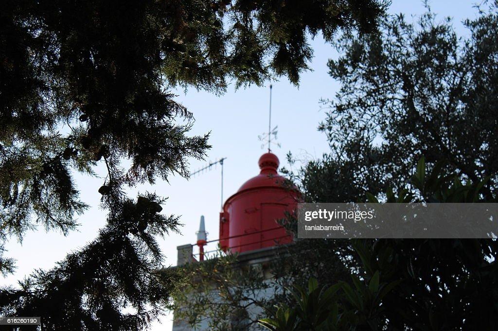 Farol vermelho : Foto de stock