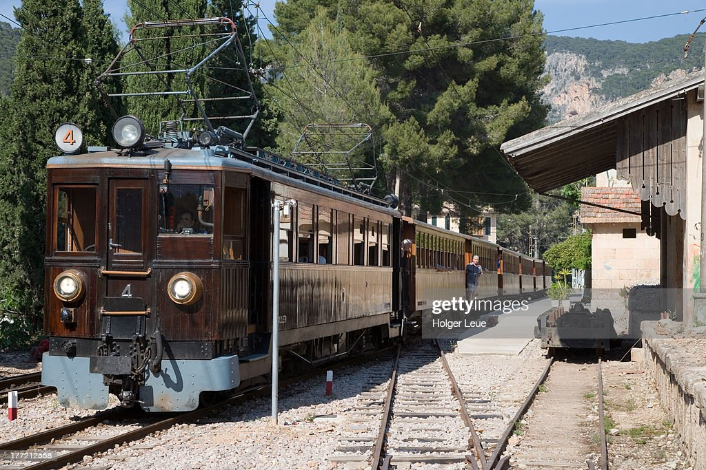 Red Lightning Palma To Soller Train At Bunyola Stock Photo Getty Images