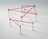 Red lines connects data points