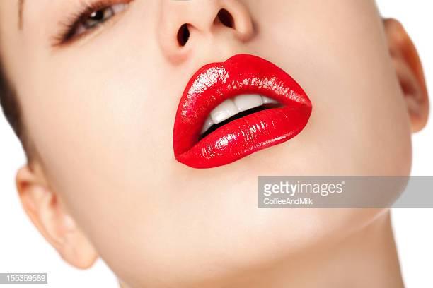 Labbra di donna beautyful rossa