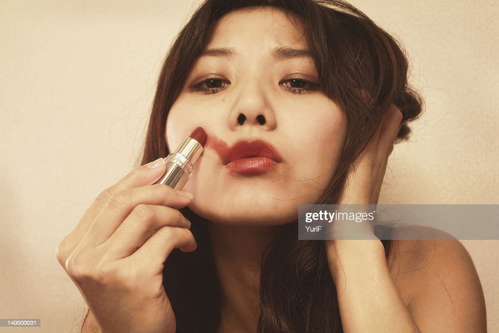 Red lipstick : Stock Photo