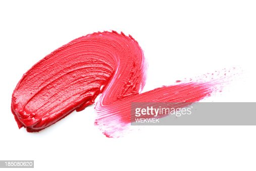 Red Lipstick Smear Stock Photo | Getty Images