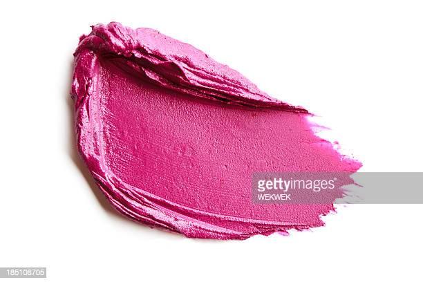 Red lipstick smears