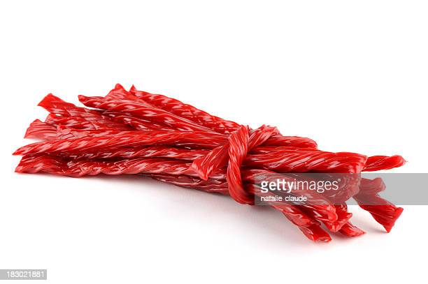 red liquorice candy