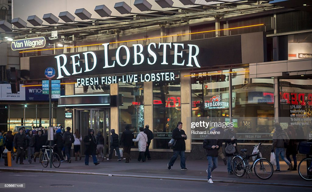 A Red Lobster Restaurant In Times Square In New York Is Seen On Pictures