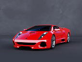 This red sport car is a concept design is made by myself. This super sport car comes without any manufacture brands. The image is a CGI.