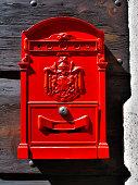 Red Mailbox at Verona Italy