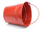 red metal pail