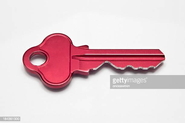 Red metallic key