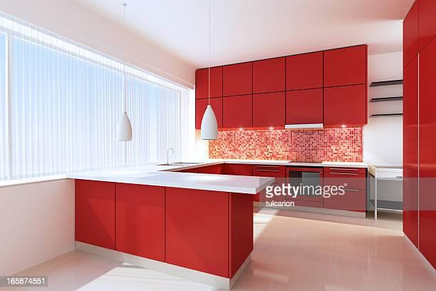 Rosso Cucina minimalista