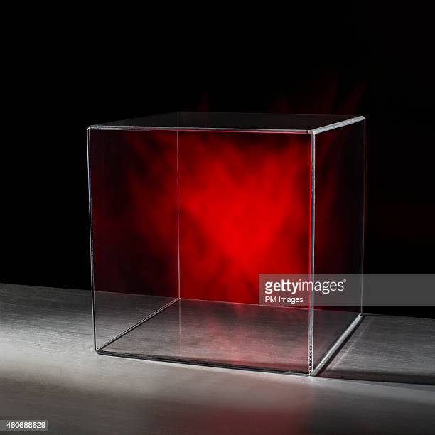 Red mist in clear box