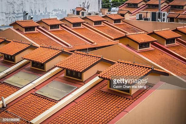 Red modern clay roofs