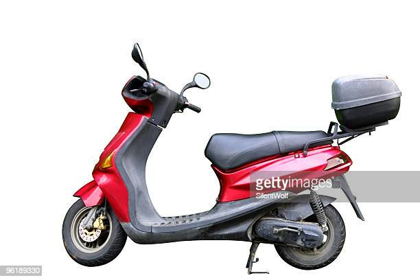 Red motorbicycle (with clipping path