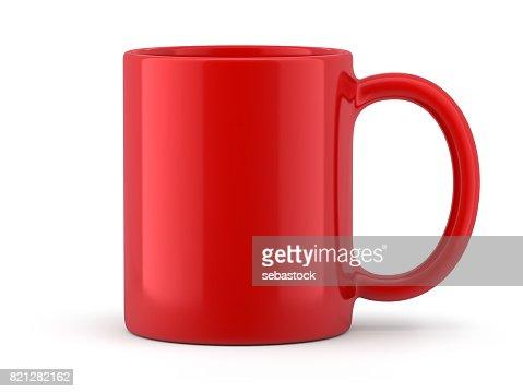 Red Mug Isolated : Stock Photo