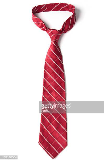 Red Necktie on White