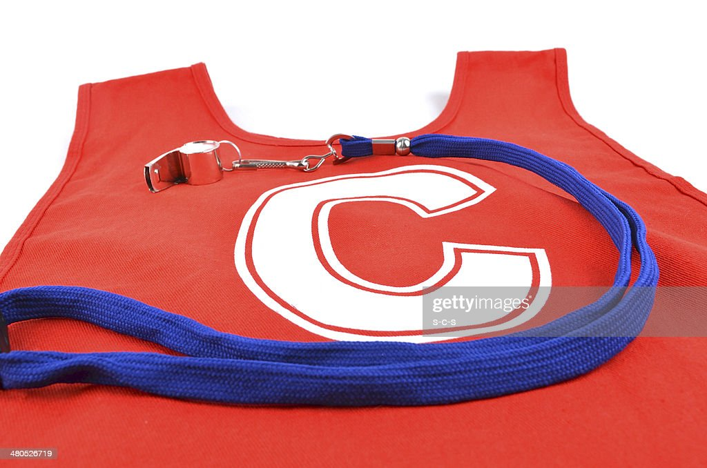Red Netball Bib : Stockfoto