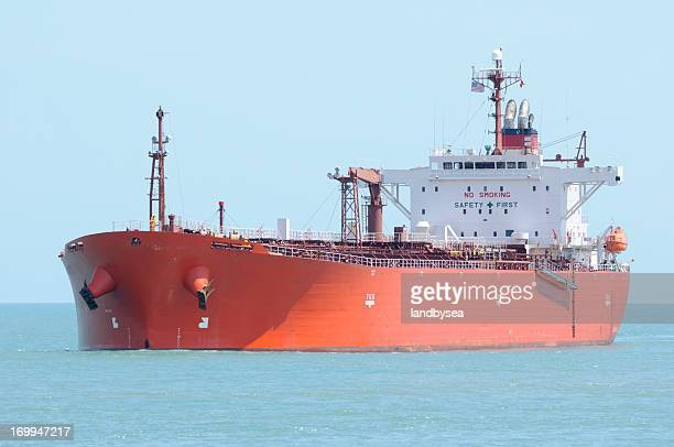 Red Oil Tanker Ship Approaching