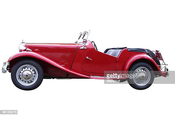 Red oldtimer (with clipping path)