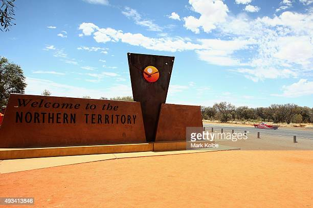 Red One of Solar Team Twente Netherlands leads the race as it cross the border from Northern Territory into South Australia as it races in the...