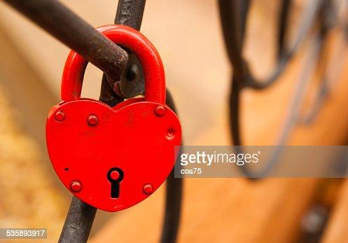 Red padlock : Stockfoto