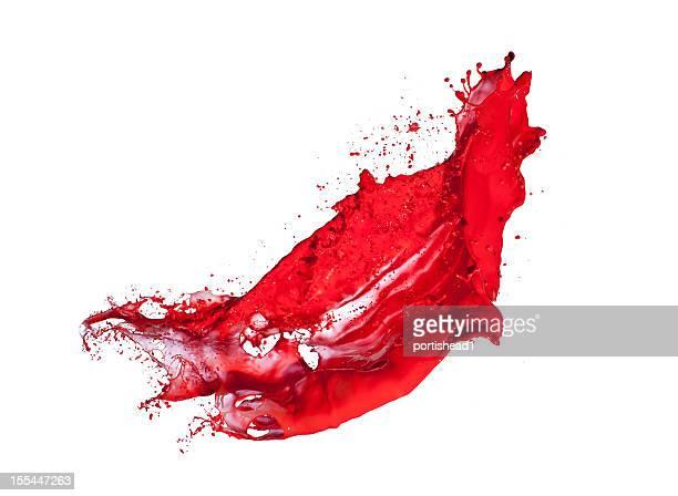 splash peinture rouge