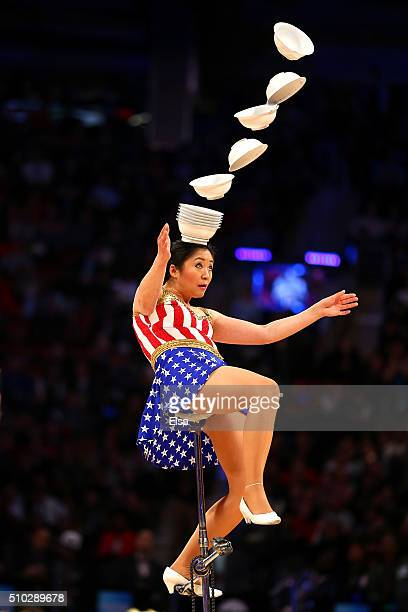 Red Panda performs in the first half during the NBA AllStar Game 2016 at the Air Canada Centre on February 14 2016 in Toronto Ontario NOTE TO USER...
