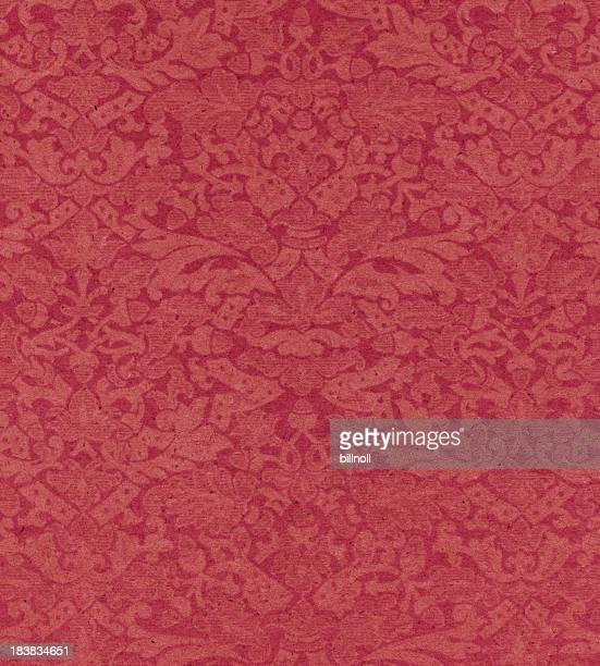 Rote Papier mit Blumenmuster