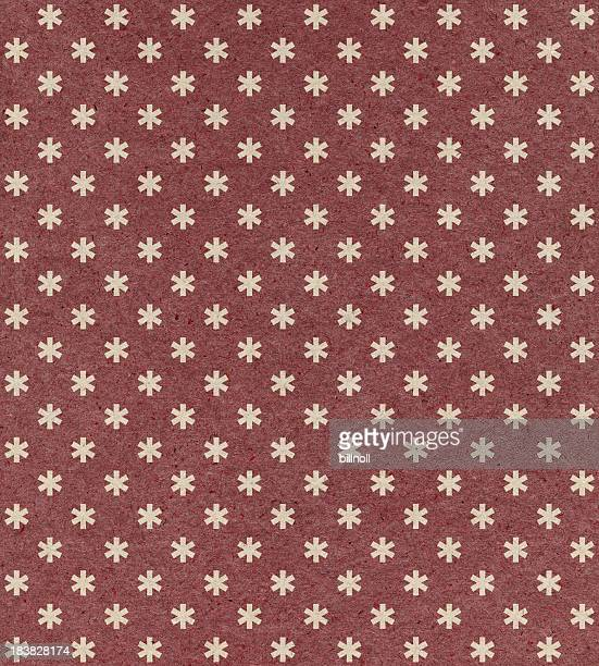 red paper with ornament pattern