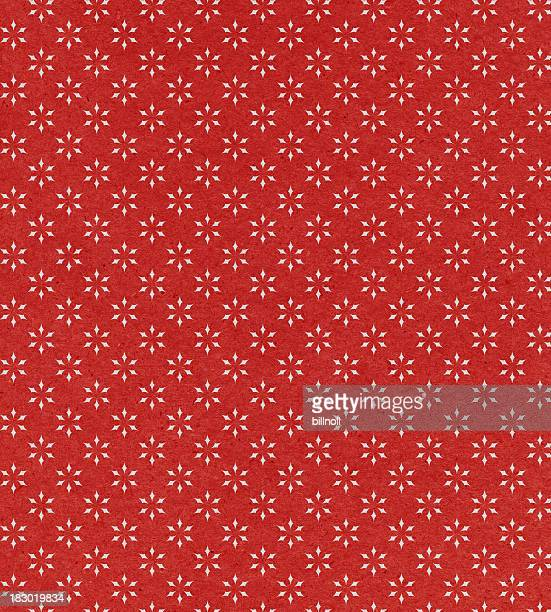 red paper with star pattern