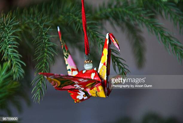 Red peace crane