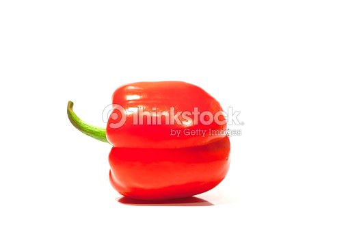rote paprika auf wei em hintergrund stock foto thinkstock. Black Bedroom Furniture Sets. Home Design Ideas