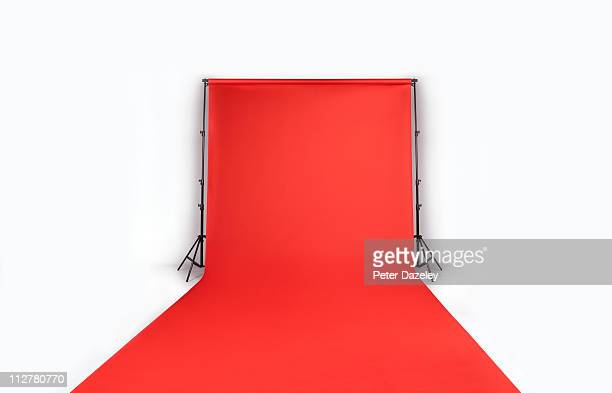 Red photographers backdrop with copy space