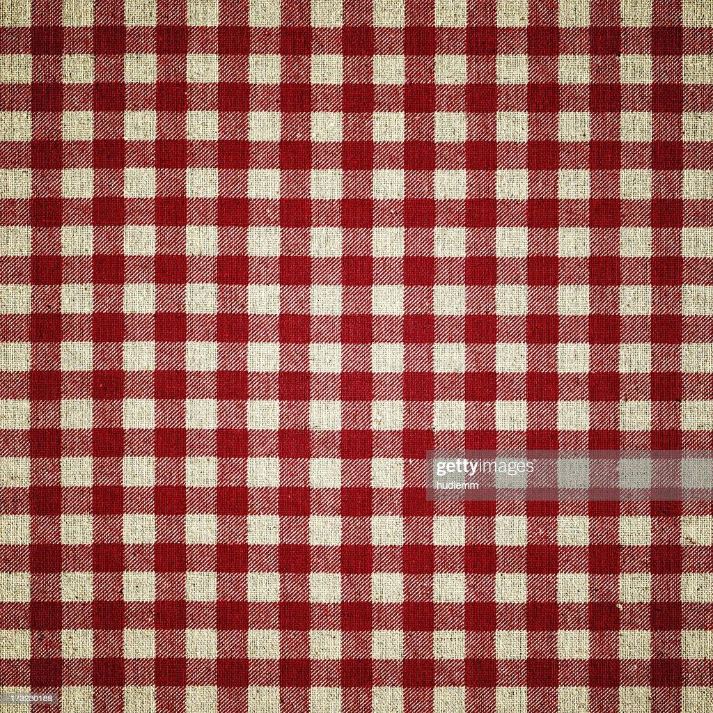 Red Plaid Fabric