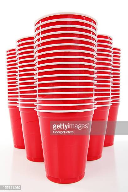 Gobelets en plastique jetable rouge