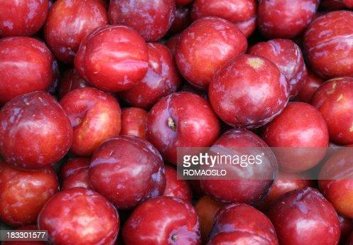 Red plum background