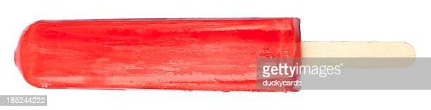 Rotes Eis-am-Stiel-isoliert auf weißem Hintergrund