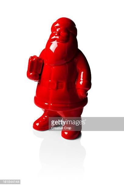 Red porcelain Santa statue