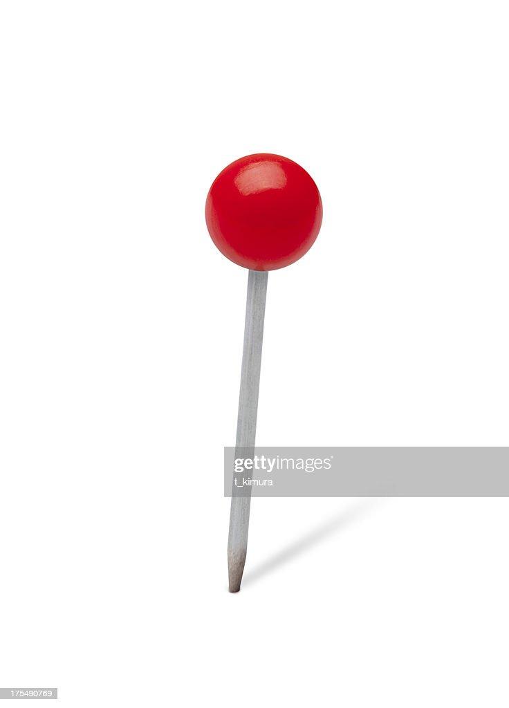 Red pushpin