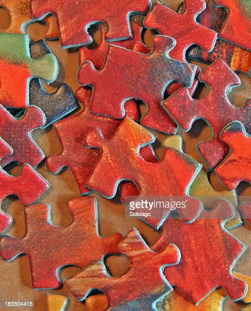Red Puzzle Stücke