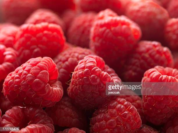 Red Raspberries Macro XXL