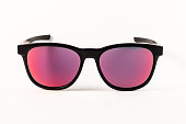 Red reflection sunglasses isolated on a white background