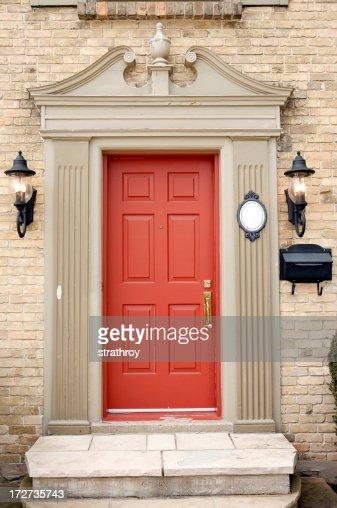 Red Residential Door