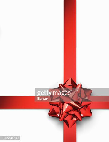 Red ribbon and present bow