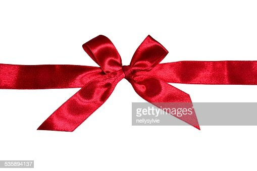 red  ribbon decoration : Stock Photo
