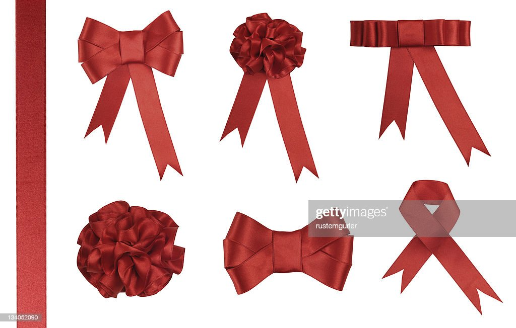 Red Ribbon Gift - Added clipping path